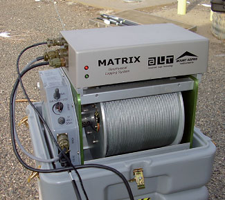 MATRIX Logger in use on MX Series Winch