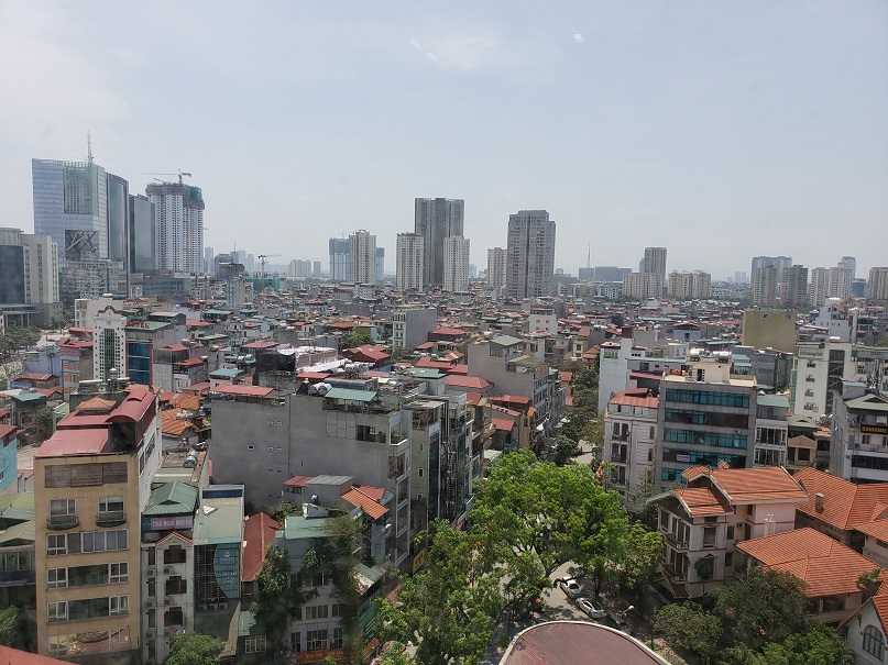 Downtown Hanoi geophysical logging in Vietnam