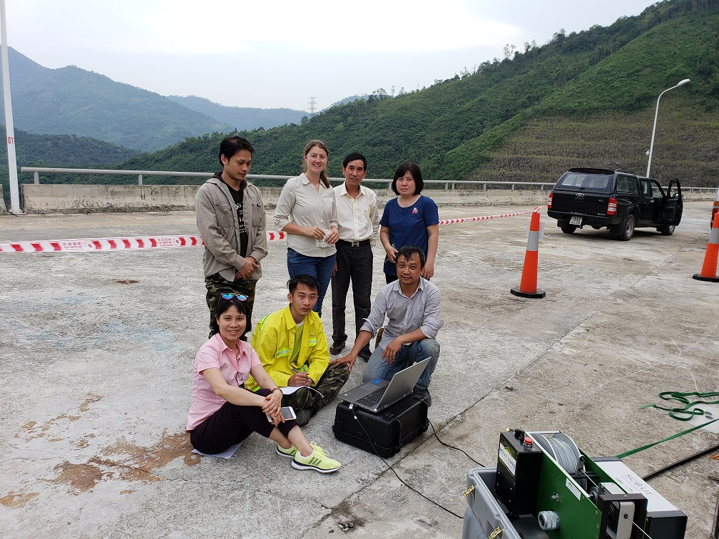 Hydroelecric Energy group in Vietnam on dam site