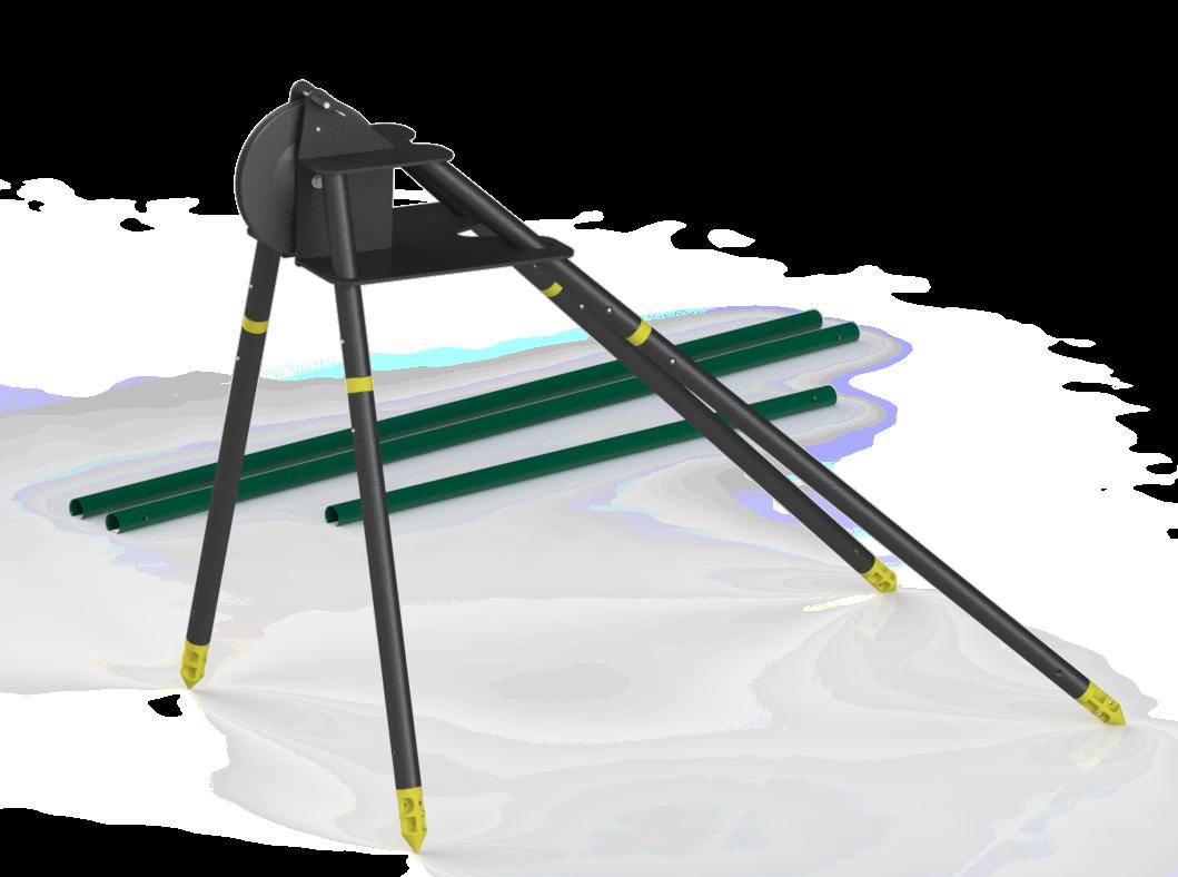 4QPA Quadpod for field well logging