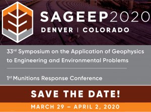 SAGEEP Conference Geophysics Mining Engineering Groundwater 2020