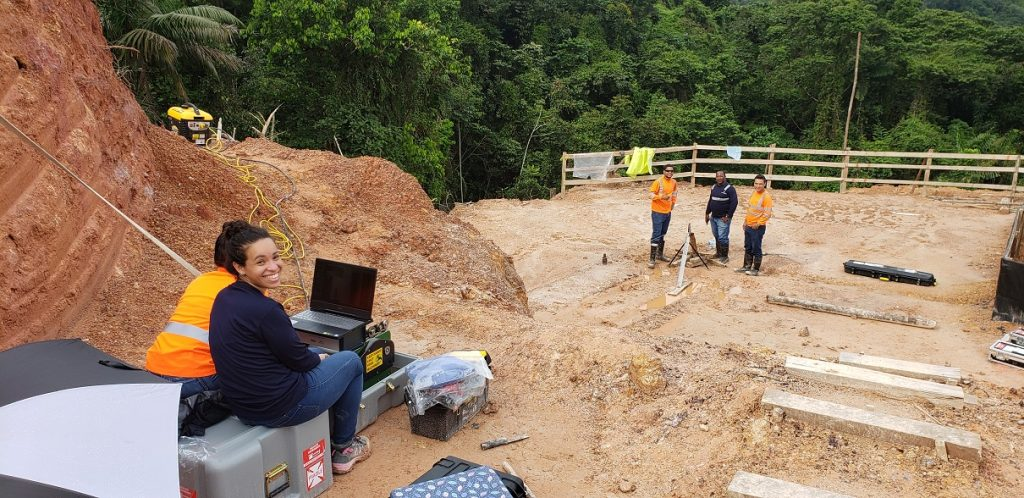 View of borehole logging field logging at Minera Panama