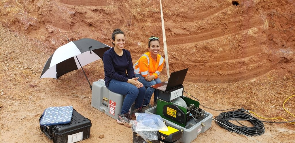 Portable winch and data logger for collecting borehole data