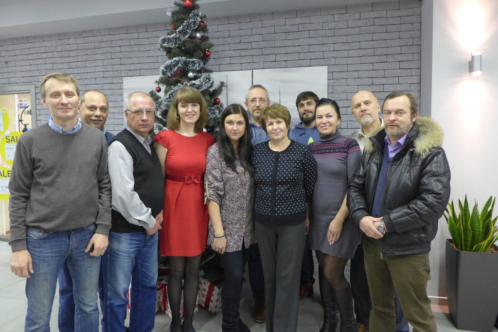 AGT Representative at Christmas in Russia Geophysics company