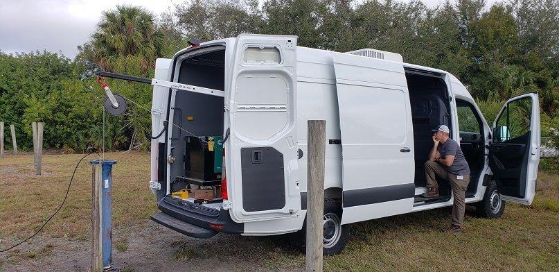 Custom borehole logging vehicle- Tampa Bay Florida